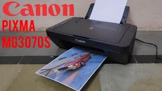 Canon PIXMA MG3070S wireless Inkjet colour printer unboxing, setup and print