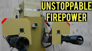Unstoppable Airsoft Firepower   Airsoft Mech Suit with Dual Mini-Guns! Ballahack Airsoft 10 Year