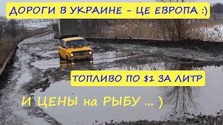 ДОРОГИ в УКРАИНЕ / Дорогое ТОПЛИВО / И ЦЕНЫ на Рыбу / Прокатился по району