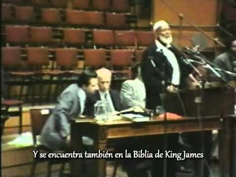 Ahmed Deedat expone la falsa Trinidad en público