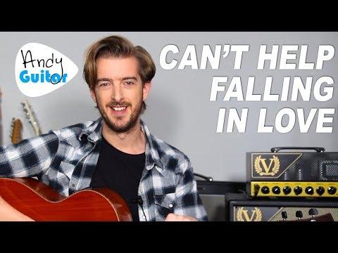ELVIS - CAN'T HELP FALLING IN LOVE Easy Acoustic Guitar Tutorial (Ed Sheeran style)