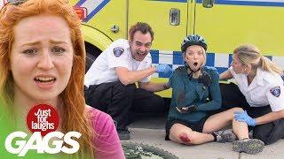 bromas paramédicos riendose de la tipa lesionada