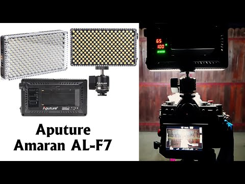 Prezentare lampa video LED Aputure Amaran AL-F7