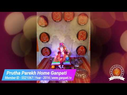 Prutha Parekh Home Ganpati Decoration Video
