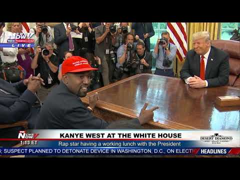Kanye West Pounds Desk, Drops F-Bombs, & Hugs Trump In Oval Office Rant!