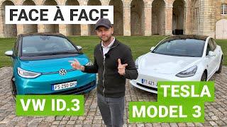 Volkswagen ID3 vs. Tesla Model 3 SR+ : un comparatif électrique équitable ?