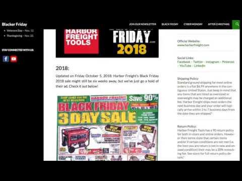 Harbor Freight Black Friday 2018 Ad
