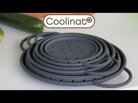 Coolinato Silikon Küchenhelfer: faltbare Siebe zum Abspülen
