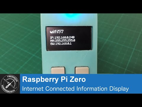 Use A Raspberry Pi Zero To Make Your Own Miniature Information Display
