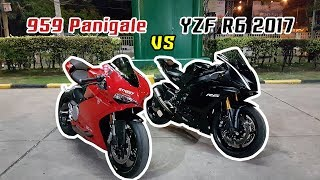 R6 2017 VS 959 Panigale // R6 Top Speed 273! ใครจะอยู่ใครจะไป