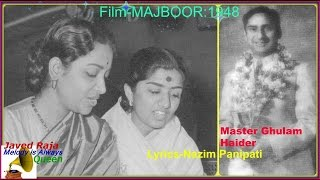 LATA & GEETA ROY:Film-MAJBOOR-[1948]-Har Shai Pe