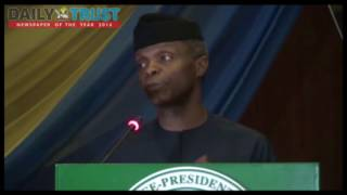 We need oil to get out of our dependency on oil- Osinbajo