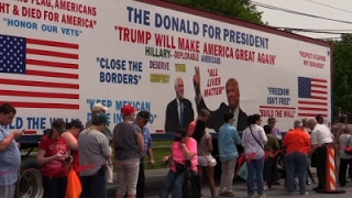Trump Supporters Show Up Early in Pa.