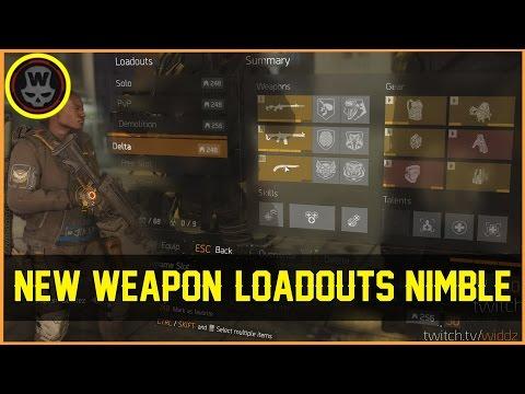 PTS 1.6.1 Loadouts, New Weapon, Nimble, Scope sense & more (The Division)