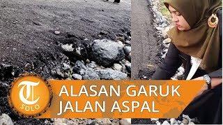 Ini Alasan Anggota DPR Kabupatan Aceh Garuk Jalan Aspal hingga Hancur