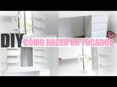 DIY CÓMO HACER UN TOCADOR DE MAQUILLAJE