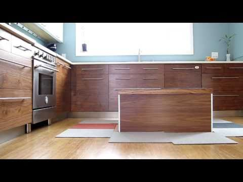DIY Kitchen Island Disappears At The Touch Of An iPhone