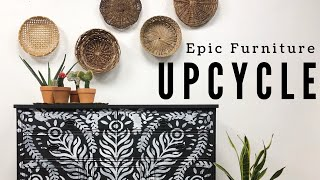 Epic Furniture Upcycle   The WINNER IS...  Painted Furniture Refinished DIY Home Decor   Boho Custom
