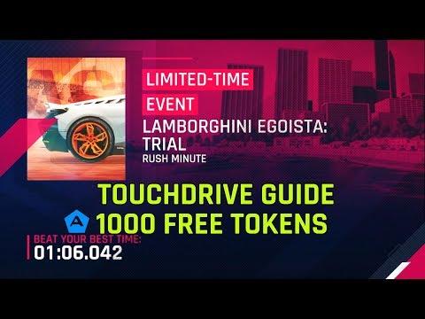 Lamborghini Egoista Version d'évaluation du guide Touchdrive des jetons gratuits 1000