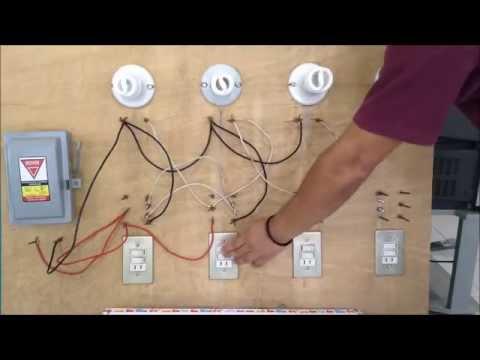 Como conectar lamparas en paralelo con apagadores de escalera INSTALACIONES ELECTRICAS