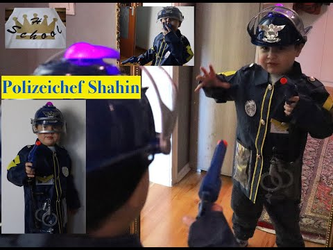 Best Polizei Chef Shahin - Unboxing Police costume/Polizei Kostüm - Halloween Verkleidung - Fashing