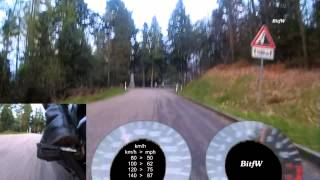 preview picture of video 'Motorrad-Strecke, Speed & Drehzahl: Schloss Eberstein (Vom Gasthaus Nachtigall nach Gernsbach) BitfW'