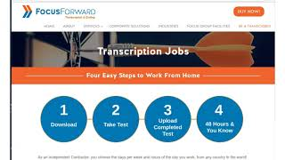 One Job Minute: Make Up to $60/hr Transcribing for Focus Forward