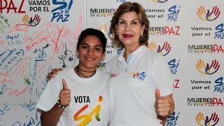 Andrea Herrera Arias, desplazada por la violencia,  de San Juan Nepomuceno - Bol dice SÍ a la Paz