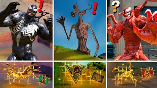 ALL NEW Bosses, Mythic Weapons & Keycard Vault Locations (Boss Carnage, Venom, Sirenhead, Cube)