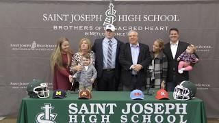 Saint Joseph High School's John Olmstead '19 Chooses Notre Dame