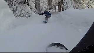 preview picture of video 'Snowboard chase through forest in Emmetten, Switzerland'