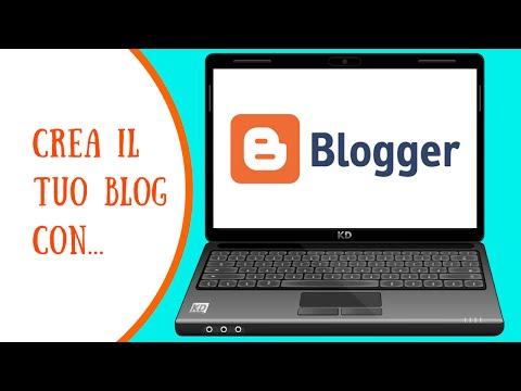 Creare un blog con... Blogger