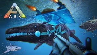 ARK: Survival Evolved - TAMING UNDERWATER DINOSAURS!! (ARK Ragnarok Gameplay)