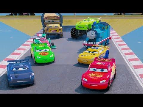 Cars 3 Colors Jackson Storm Lightning McQueen Cruz Ramirez Tow Mater Mack Truck Dinoco