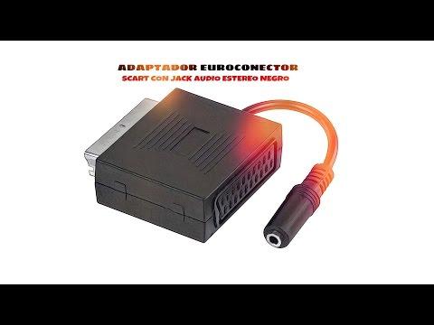 Adaptador SCART con jack audio estereo Negro distribuido por CABLEPELADO ®