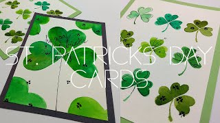 Home made EASY St Patricks Day Cards Part 2 Watercolor cards for beginners