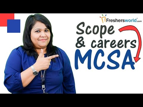 Careers and Training courses for MCSA - Microsoft certification ...