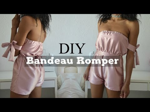 DIY   How To Make A Bandeau Bow Tie Romper/Playsuit