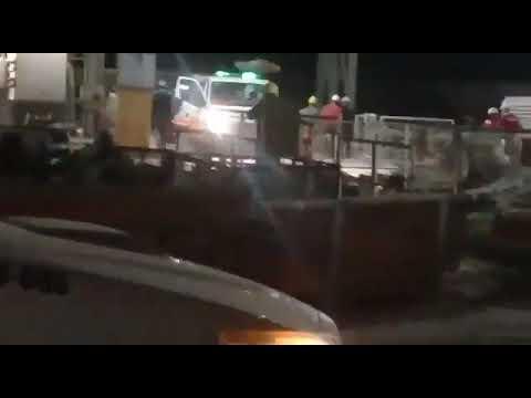 Video: Operario grave tras un accidente en la obra de L´Amali II