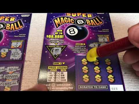 $3 - SUPER MAGIC 8 BALL - WIN! Lottery Bengal Scratch Off instant tickets   NEWER TICKET! WIN!