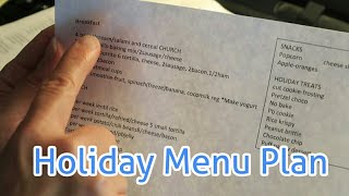 Large Family December Meal Planning And Holiday Foods