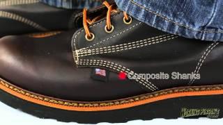3ddd0b102d0 Mens 6 Inch Thorogood Work Boots USA Made 814-4550 - Free video ...