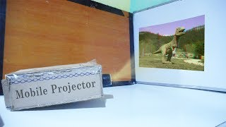 How to make Mobile projector At home | make easily big screen projector at home