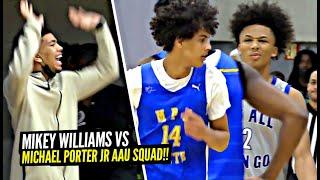 Mikey Williams Faces OFF vs Michael Porter Jr's AAU Squad! MPJ Little Bro Has GAME!