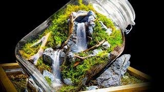 Running Waterfalls in a Jar (Moss Terrarium)