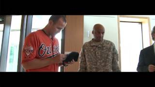 Darren O'Day Recognized by Act of Valor Award, Camden Yards Sep 2014