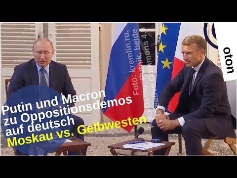 Putin und Macron zu Oppositionsdemos auf deutsch [Video]