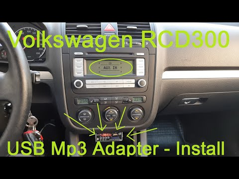 VW Golf 5 RCD 300 - USB Mp3 Adapter - Install - (under 6$)