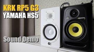 KRK Rokit 5 RP5G3 Vs Yamaha HS5      Sound Demo W/ Bass Test