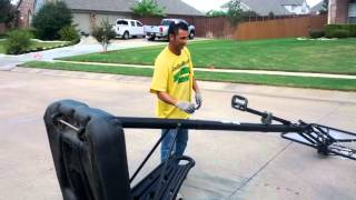 How to remove a basketball goal and Haul off in Southlake Texas Only $75.00